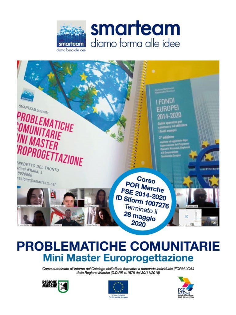 """Terminato il corso """"Problematiche Comunitarie – Mini Master in Europrogettazione"""" – ID Siform 1007276"""